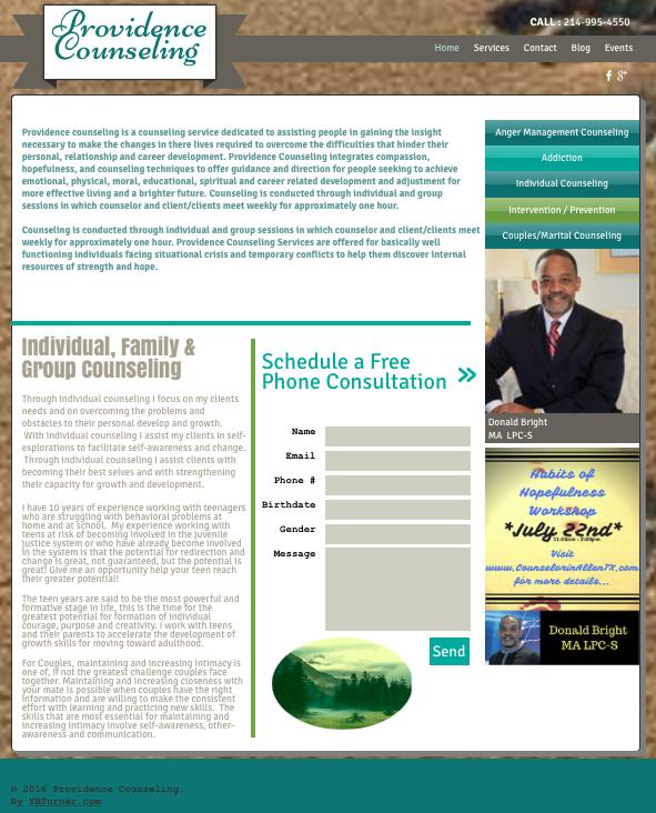 Providing Website Services for CounselorinRichardsonTX (dot) com